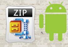 giải nén file zip trên android