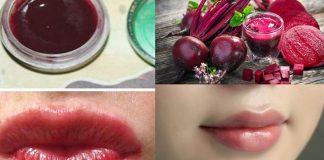 Củ dền trị thâm môi
