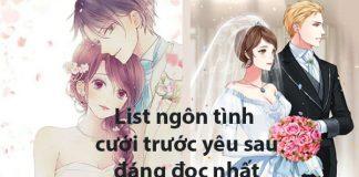 List ngôn tình cưới trước yêu sau
