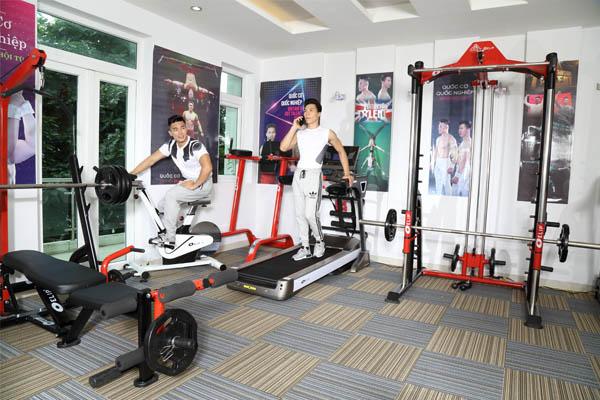 Phòng gym đầy đủ thiết bị