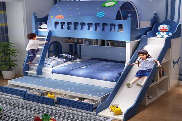 thiết kế phòng ngủ cho 2 bé trai