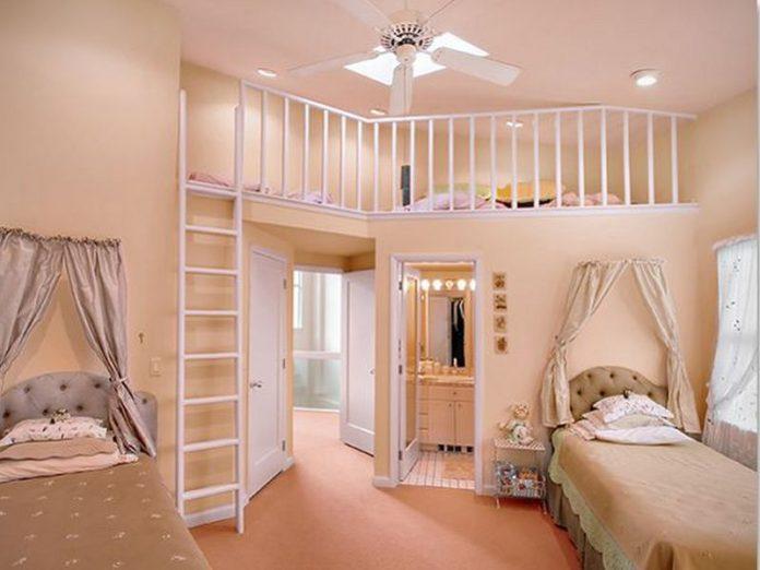 trang trí phòng ngủ gác lửng