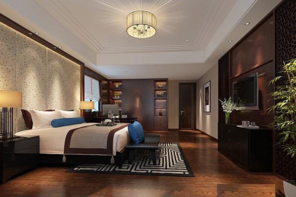 trang trí phòng ngủ kiểu Trung Quốc
